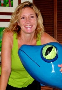 Susan Szabo with her gecko